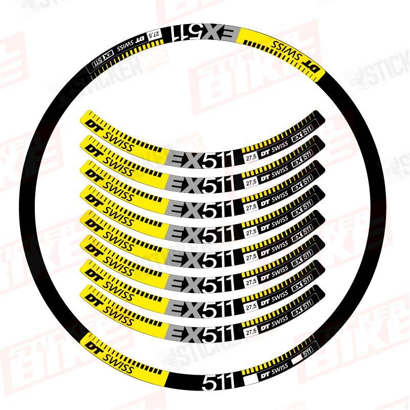 Sticker llantas DT Swiss EX 511 amarillo