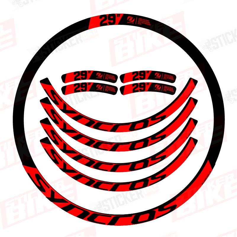 Sticker llantas Syncros Silverton 1.0 rojo