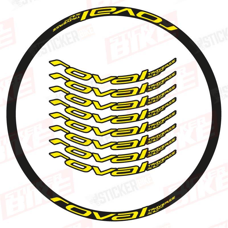 Sticker llantas Roval Traverse SL 2021 amarillo