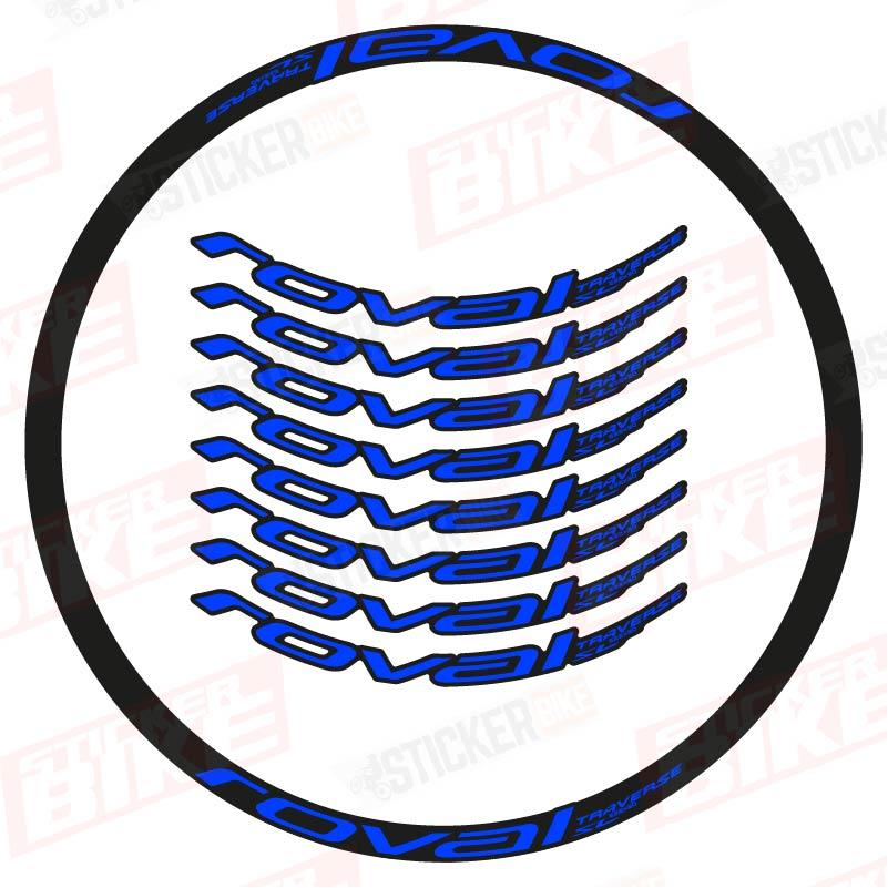 Sticker llantas Roval Traverse SL 2021 azul